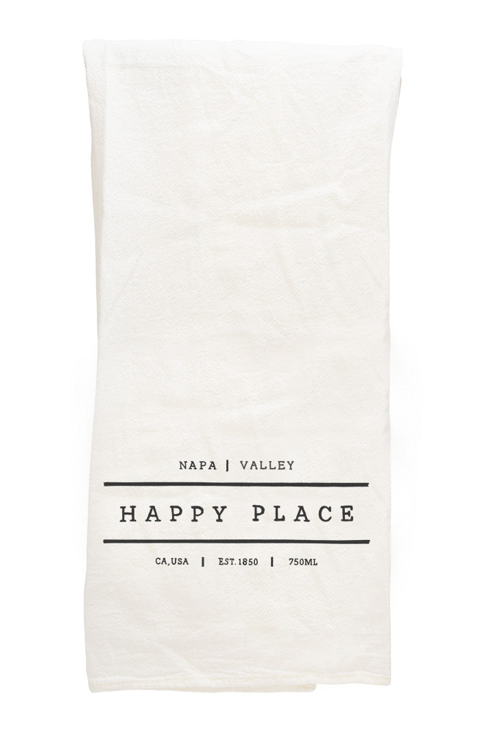 Happy Place Napa Tea Towel