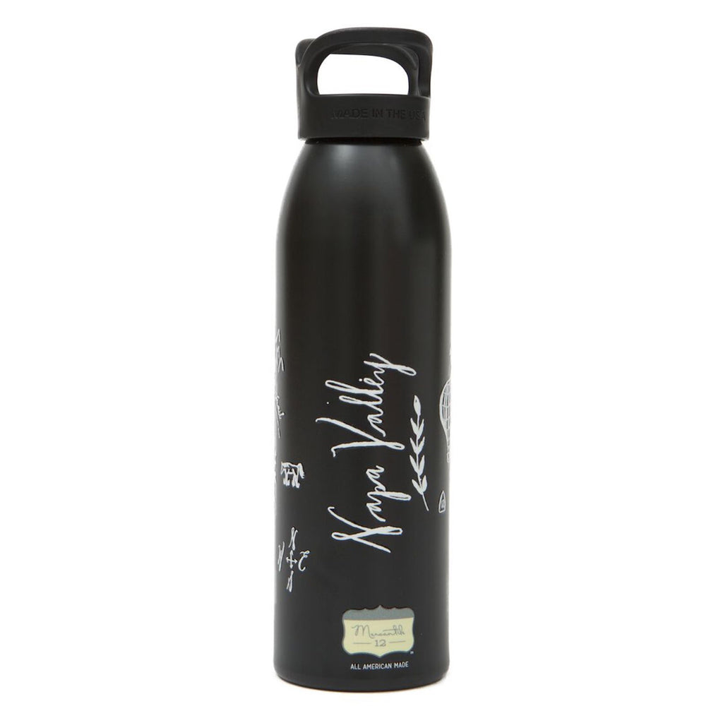 Calligraphy Map Napa Aluminum Water Bottle