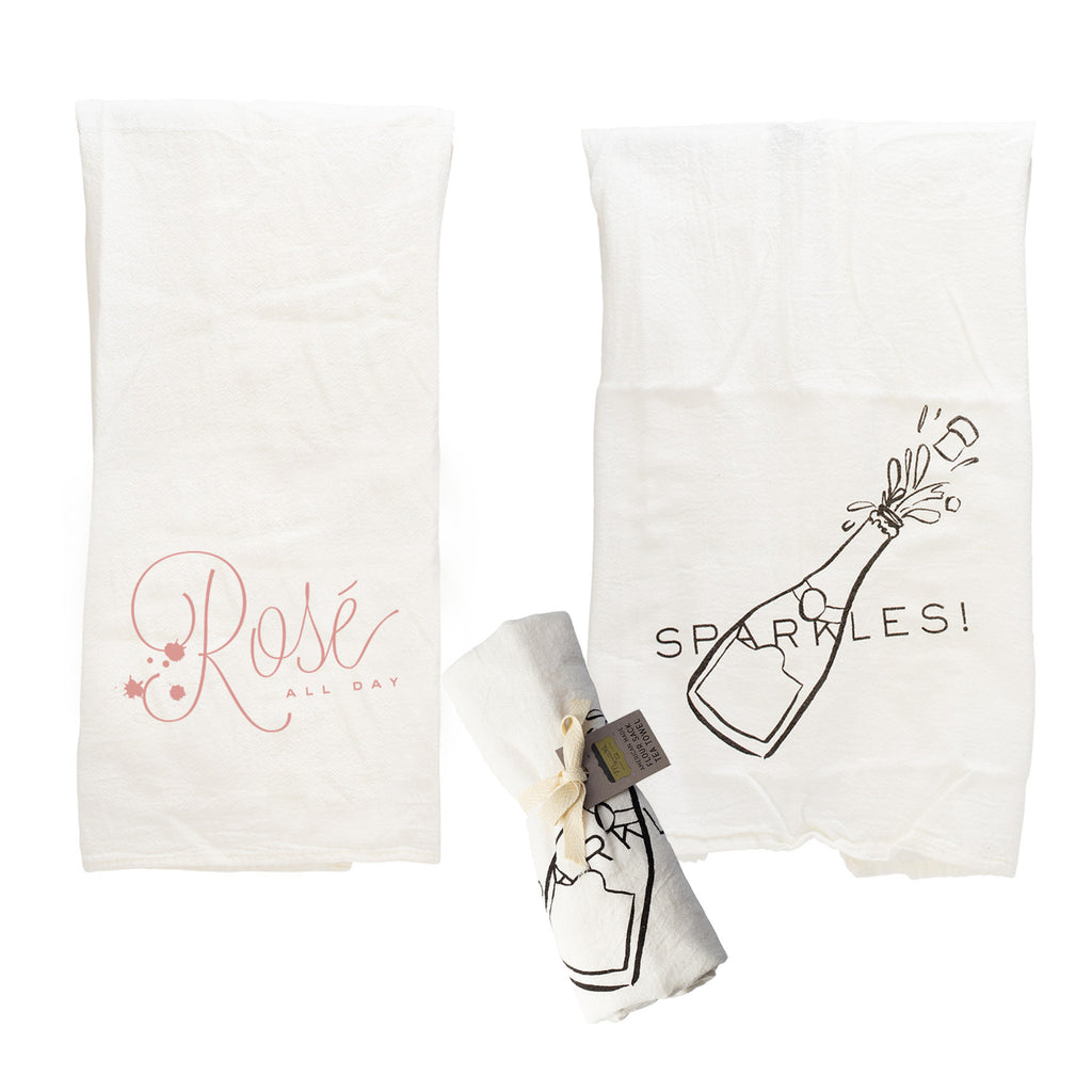 Tea Towel Bundle - Rosé All Day & Sparkles