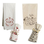 Tea Towel Bundle - Vintage Napa & Calligraphy Map Napa