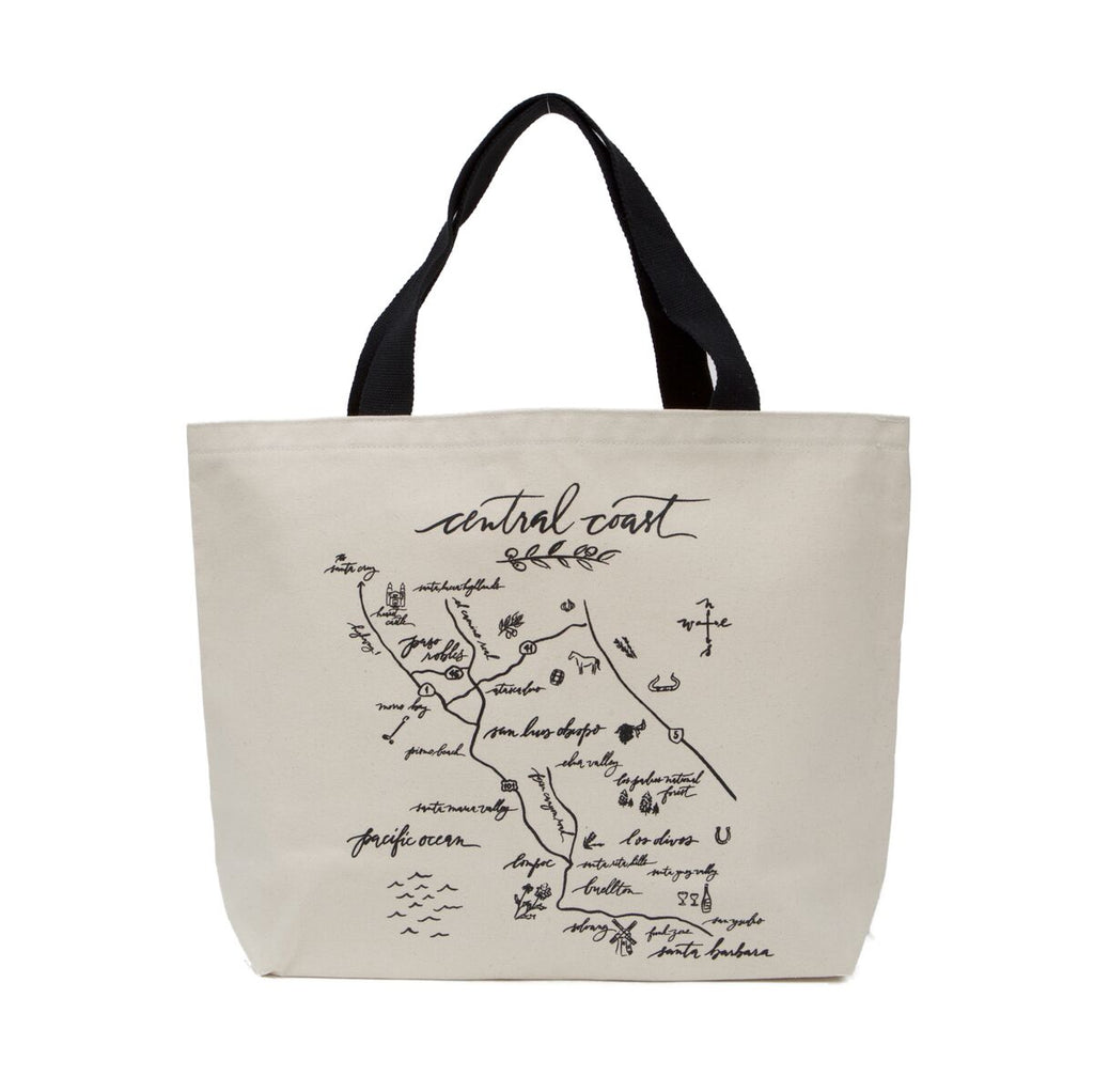 Calligraphy Map Central Coast Heavyweight Tote