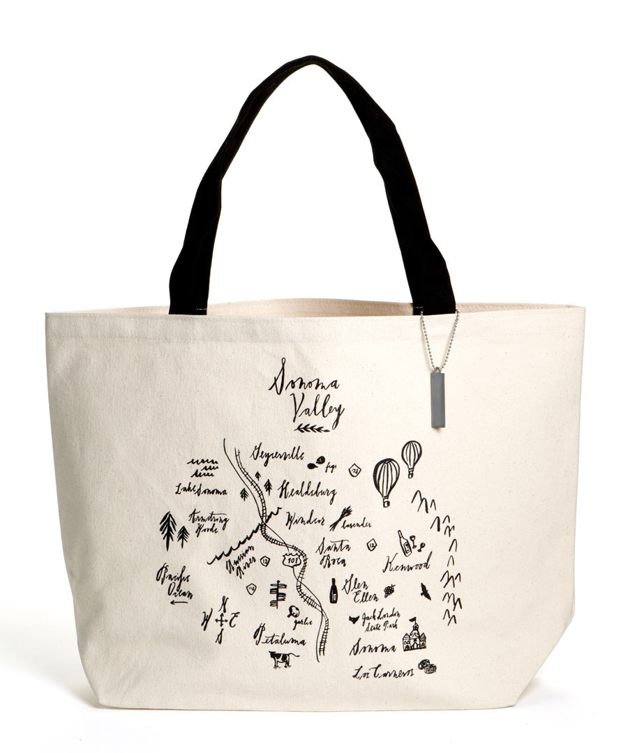 Calligraphy Map Sonoma Heavyweight Tote