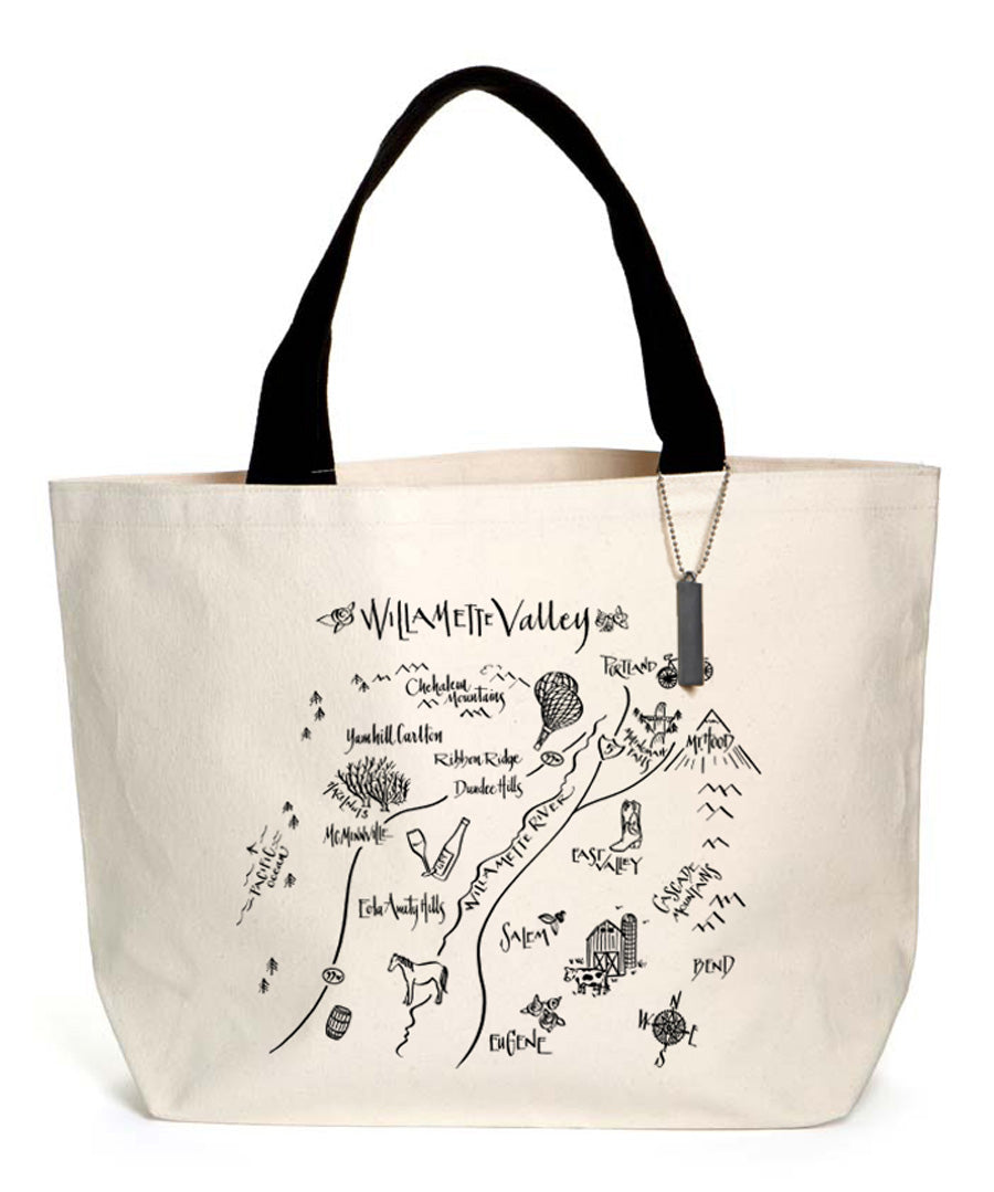 Calligraphy Map Willamette Heavyweight Tote