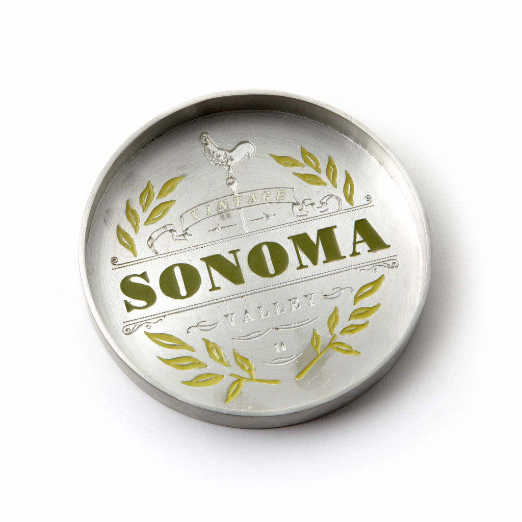 Vintage Sonoma Bottle Coaster
