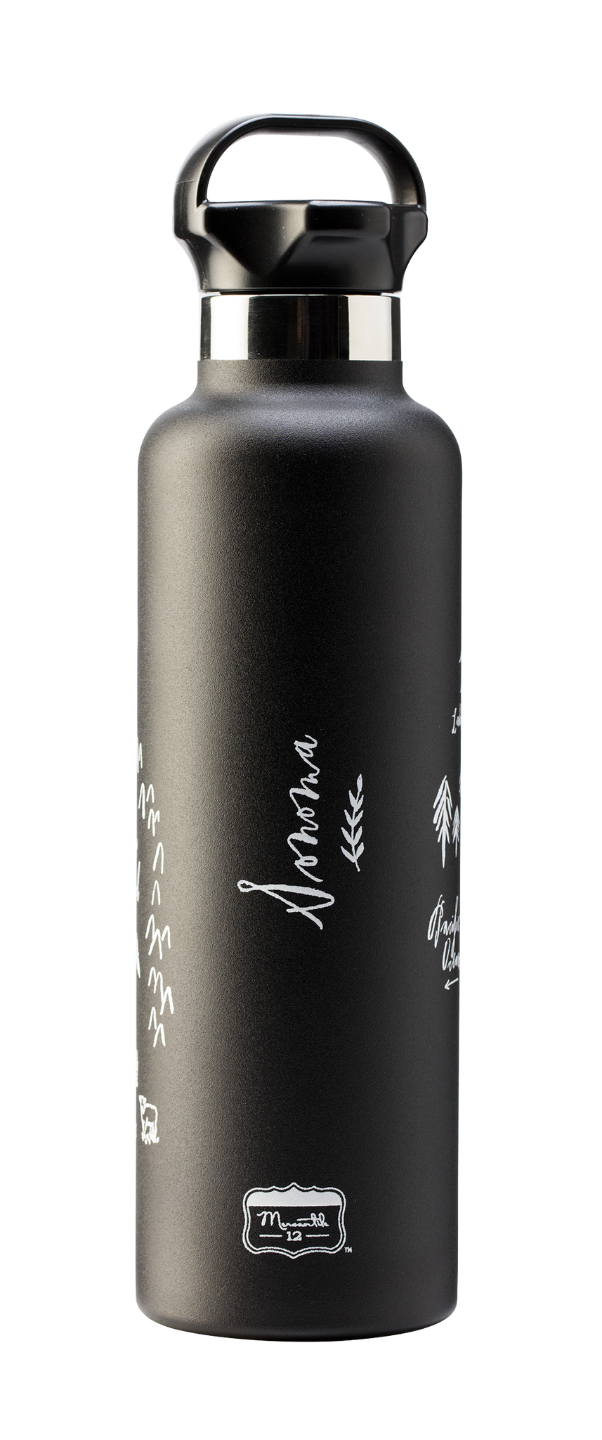 Calligraphy Map Sonoma Stainless Steel Water Bottle