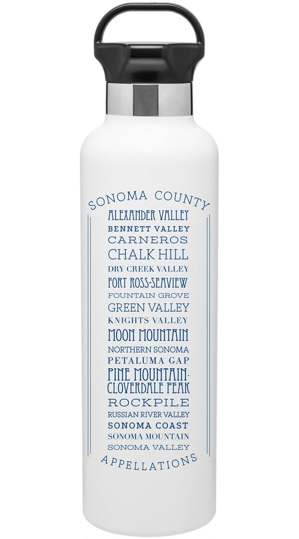 Appellations Sonoma County Stainless Steel Water Bottle