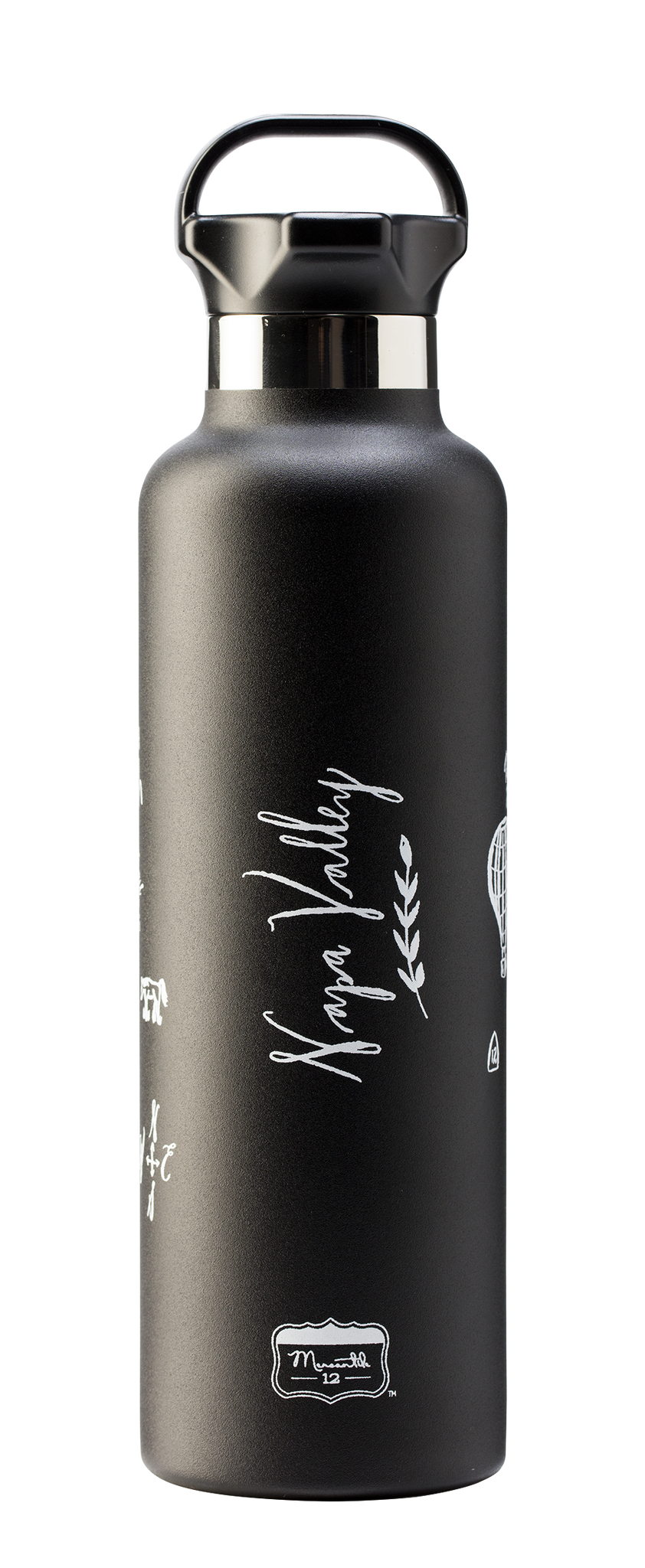 Calligraphy Map Napa Stainless Steel Water Bottle