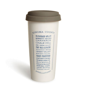 Appellations Sonoma Double Wall Ceramic Tumbler