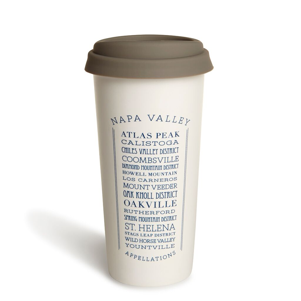 Appellations Napa Double Wall Ceramic Tumbler