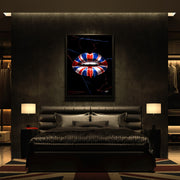 England British flag art in modern luxury bedroom