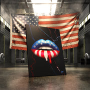 american flag patriotic lips wall art prints
