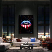 american flag wall art print in luxury condo