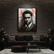 American Gangster, Denzel Wahington wall art for man cave and living room.