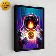 bitcoin astronaut inspirational wall art
