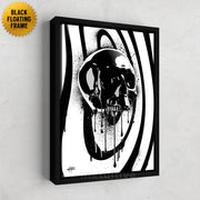 black onyx skull inspirational canvas art designed by inktuitive