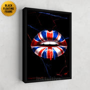 British lips flag canvas art