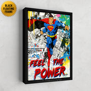 Canvas art of Superman - feel the power.
