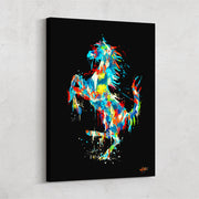 canvas print of ferrari in graffiti style