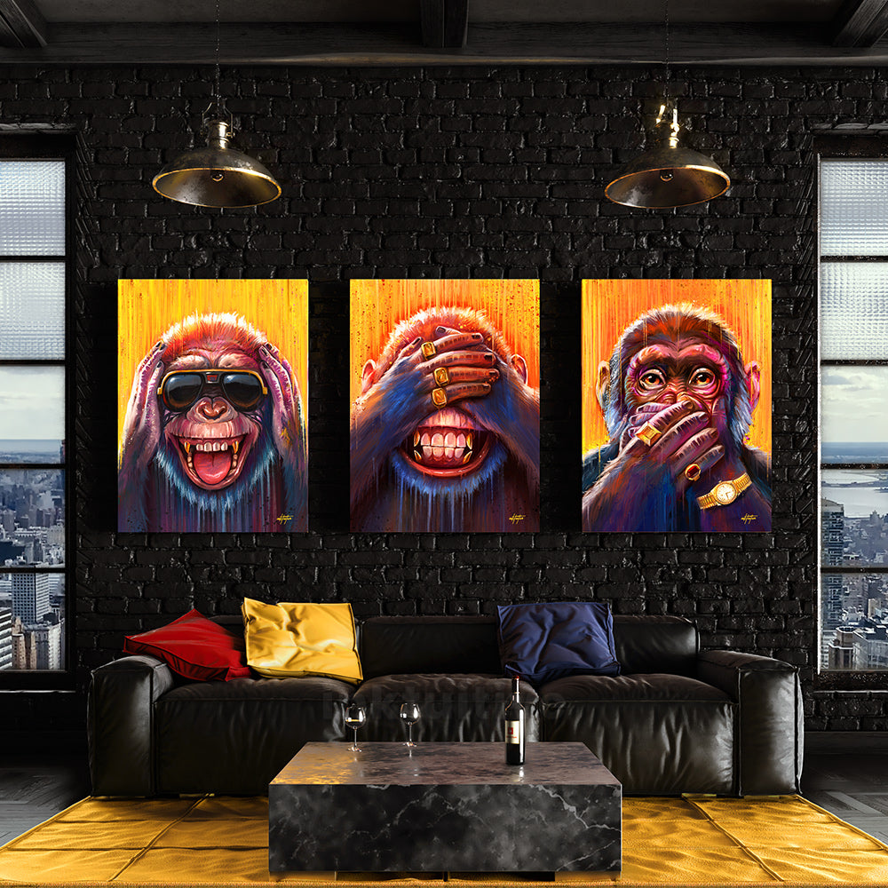 canvas prints of hear no evil see no evil