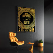 Dreamcatcher gold motivational wall art.