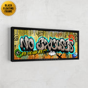 no excuses motivational graffiti wall art