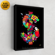 Graffiti wall art framed