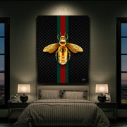 Gucci bee modern canvas art for bedroom.