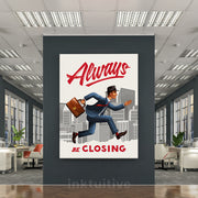 Inktuitive always be closing ABCs sales team motivational wall canvas art