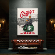 Inktuitive coffee's for closers sales team motivational wall canvas art