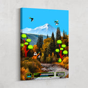 Inktuitive Duck Hunt Nintendo video game motivational canvas art
