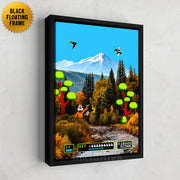 Inktuitive Duck Hunt Nintendo video game motivational canvas art - black floating frame