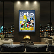 Inktuitive Forbes billionaires Richie Rich Mr Burns rich uncle scrooge mcduck motivational wall canvas art