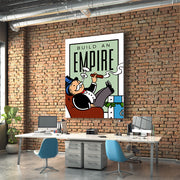 Inktuitive Build an Empire monopoly motivational canvas art