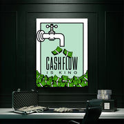 Inktuitive cashflow is king monopoly motivational canvas art