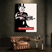 Inktuitive Tony Montana Scarface Monopoly the world is yours modern canvas art