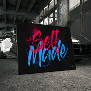 Inktuitive self made motivational canvas art.