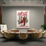 Inktuitive sell the problem you solve not the solution sales team motivational wall canvas art