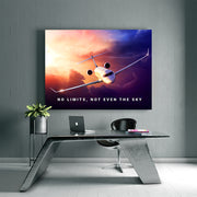Inktuitive Sky's not the limit g6 jet motivational canvas art