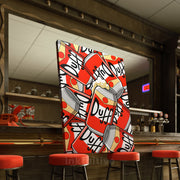 Inktuitive Duff Beer pattern The Simpsons modern motivational canvas art