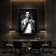james dean canvas wall art in dining room