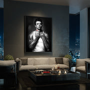 james dean canvas wall art in living room
