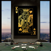 king of hearts poker style playing card wall art