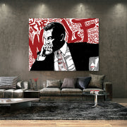 Leonardo DiCaprio Wolf of Wall Street motivational canvas art in living room
