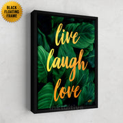 live laugh love inspirational wall art inktuitive
