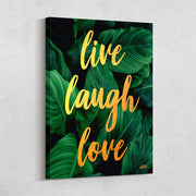 live laugh love positive inspirational wall art inktuitive
