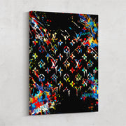 louis vuitton graffiti style modern canvas art
