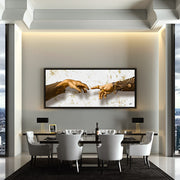 luxury canvas art dining room