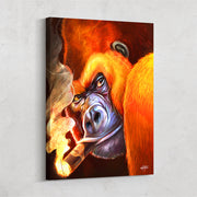 Man cave canvas wall art