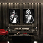 Marilyn Monroe and James Dean wall art