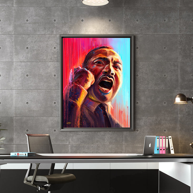 Martin Luther King wall art for office